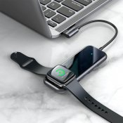Baseus Mirror series USB-C adapter with built in charger for Apple Watch