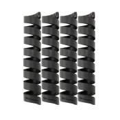 Bluelounge CableCoil 4-pack - Black - Neatly organize your cables and keep them together.