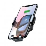 Baseus Metal Wireless Charger Gravity Car Mount for Smartphones
