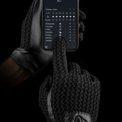 Mujjo Leather Crochet Touchscreen Gloves Stl. 8