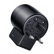 Baseus Rotation Universal Travel Charger - Black