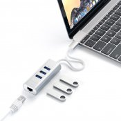 Satechi USB-C Aluminium hub - 3 port USB 3.0 + Ethernet (RJ45)
