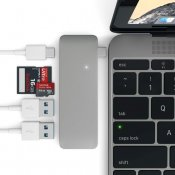 Satechi USB-C Pass Through USB Hub - 3-in-1 Hub. Compatible with New MacBooks, allowing charge!