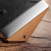 "Mujjo Sleeve 12 ""- Premium Case for MacBook with details of genuine leather"