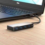 ALOGIC USB-A Fusion SWIFT 4-port Hub – Space Grey