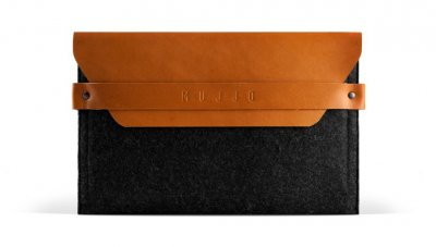 "Mujjo 8 ""Envelope Sleeve - Premium Case for iPad Mini 1-4 with details of genuine leather"