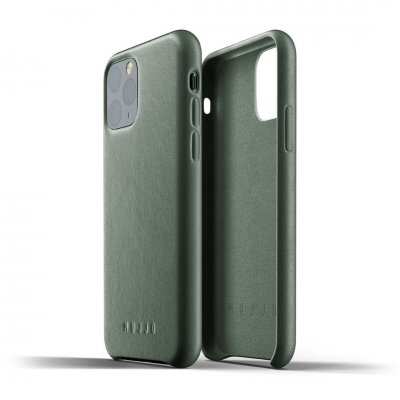 Mujjo Full Leather Case för iPhone 11 Pro - Slate Green