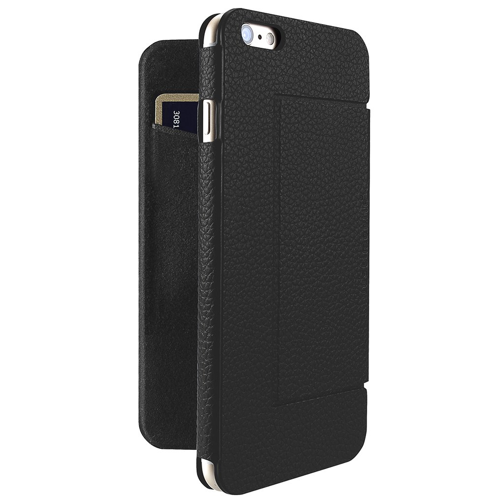 ... Just Mobile Quattro Folio Case Black - Läderfodral av högsta kvalitet  till iPhone 6s   6s ... f2dd9dfb08736